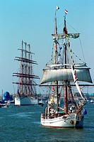boat, outdoors, outside, sail, sailing ship, sea, ship