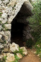 TORRE TRENCADA MENORCA Entrance to Talayotic burial cave