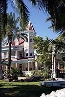 USA, Florida, Key West, Southernmost House, architecture
