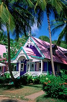 Caribbean, Grenadines, Mustique, boutique, Brittania Bay, gingerbread architecture (thumbnail)