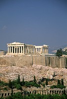Greece, Athens, Acropolis, Parthenon on Acropolis