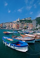 Italy, Porto Venere, harbor, fishing boats, World Heritage Site