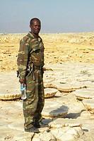 soldato, dancalia, afar, etiopia