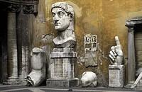 Italy, Lazio,Rome,Palazzo dei Conservatori, Costantine II statue