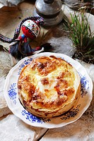 Banica Cheese pie made with filo pastry, Bulgaria