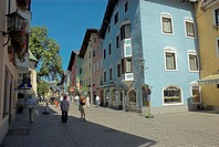 Colourful street in Kitzbuhel Tirol Austria