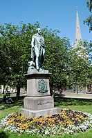 Statue of Wellington in Cathedral Close, Norwich, Norfolk, England