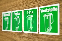 Four symbols for waste separation, Germany
