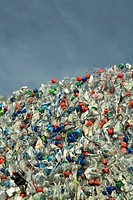 Heap of plastic bottles, Germany