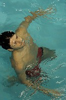 Man piping down under Water _ Swimming_Pool _ Swimming _ Sports _ Leisure Time