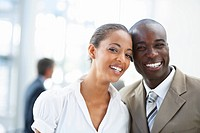 Portrait of a pretty African American business people smiling together