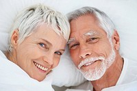 An attractive senior retired couple spending time together