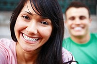 Dental _ Happy woman showing her white teeth