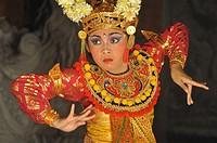 Ubud (Bali, Indonesia): a traditional Balinese dancer