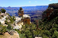 Hoodoos along South Rim Grand Canyon National Park Arizona