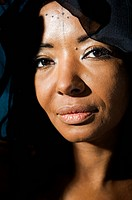 Portrait of an African woman, close_up, Sweden.