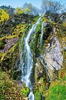 Tabayon del Mongayu, Waterfall. Redes Natural Park and Biosphere Reserve. Concejo de Caso. Asturias. Spain.