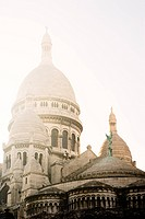 Sacre coeur against the light, Paris, France.