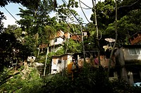 Shanty town outside Rio, Brazil.