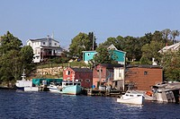old traditional fishing village Herring Cove, Nova Scotia, Atlantic Canada