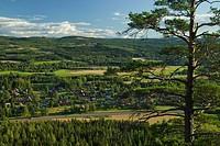 View of a small village, Dalarna, Sweden.