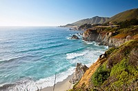 Big Sur is a sparsely populated region of the central California coast where the Santa Lucia Mountains rise abruptly from the Pacific Ocean