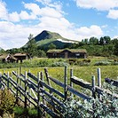 Mountain pasture and fence, Harjedalen, Sweden.