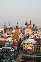 Old city of Wuerzburg in Winter
