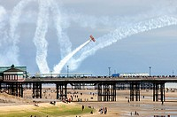 Wing walkers at Blackpool air show