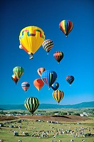 Hot air balloon festival in Steamboat Springs, CO, USA