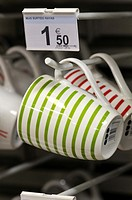 Cups in a supermarket, France
