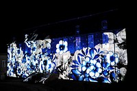 "Light show ""Rendez-vous à la cathédrale"" immense projections of images on the walls of the hôtel du Doyen and the cathedral  The history, heritage and..."