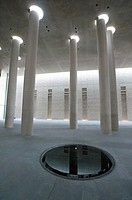 Modern crematorium at Baumschulenweg cemetery in Treptow Berlin Germany, Architect Axel Schultes