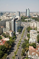 Aerial photograph of the city of Bucharest in Romania