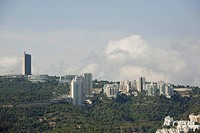 Aerial image of the University of Haifa on the summit of mount Carmel