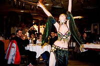Photograph of a Bulgarian dancer during performance