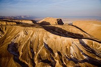 Aerial photograph of the historic site of Masada in the Judean desert
