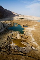 Abstract view of ponors in the Dead sea