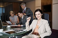 Businesswoman in meeting (thumbnail)