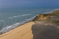 Sand dunes at the Rubjerg Knude Lighthouse