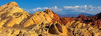 Sandstone formations in the Valley of Fire