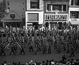 USA, New York State, New York city, Columbus Day parade, October 12, 1949