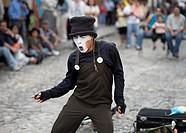 Mime dancing