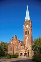 Church at Recklinghausen_Hochlarmark, Ruhrgebiet, North Rhine_Westphalia, Germany, Europe
