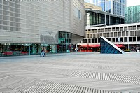 Modern architecture, Pathe cinema and De Doelen concert_ and congress building at the Schouwburgplein square, Rotterdam, Zuid_Holland, South_Holland, ...