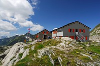 Mountain lodge, Adula Alps, Canton of Ticino, Switzerland