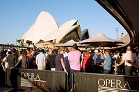 Opera Bar at the Opera House at the harbour of Sydney, New South Wales, Australia