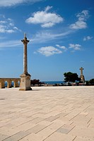 Square with column in Santa Maria Di Leuca, Italy