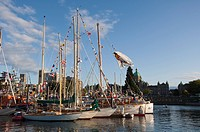 Wooden Boat Festival, Inner Harbour, Victoria, BC, Canada