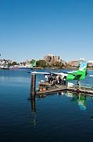 Floatplane unloading in Inner Harbour Victoria, British Columbia, Canada